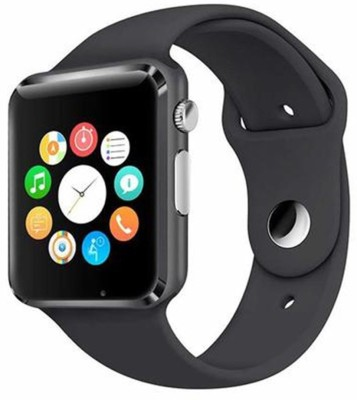 Eleganz ELNZ A1-422 Bluetooth with Built-in Sim card and memory card slot Compatible with All Android Mobiles Black Smartwatch(Black Strap Regular) at flipkart