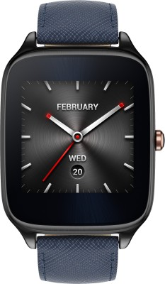 Asus ZenWatch 2 Gunmetal Case with Leather Strap Dark Blue Smartwatch(1.63 inch, Navy Blue) at flipkart
