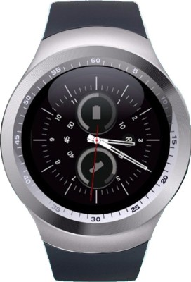 Wokit Alcatel Flash 2 Silver Smartwatch(Black Strap Regular) at flipkart