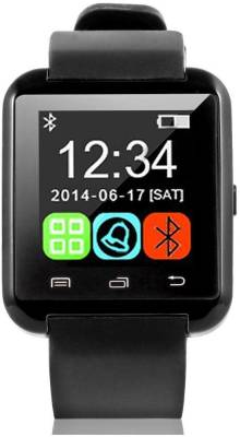 ZOON U8 Black Smartwatch (Black Strap)
