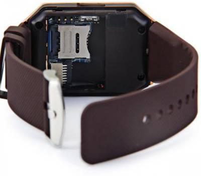 POWR DZ09 Smartwatch (Brown Strap)