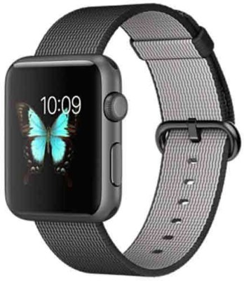 Apple Watch 42mm Space Gray Aluminium with Black Woven Nylon Strap