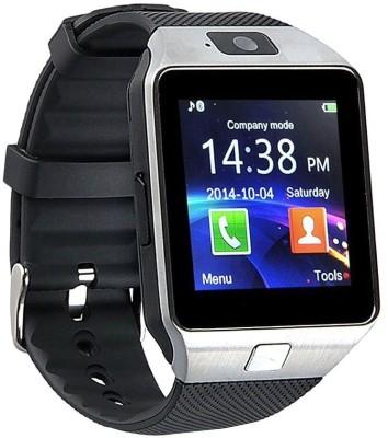 VCS T30 Silver Smartwatch(Black Strap Medium) 1