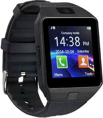 Wokit DZ09-91 Bluetooth with Built-in Sim card and memory card slot Compatible with All Android Mobiles Black Smartwatch(Black Strap Regular) at flipkart