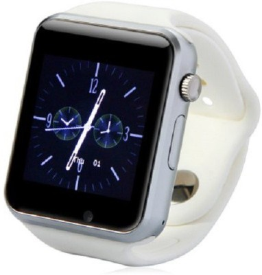 """Speed A1 1.54"""" Touch screen for Android IOS Smartphones with Bluetooth 3.0 White Smartwatch(White Strap Regular) 1"""