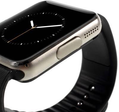 IGS IGS - GT08 (silver) Siilver Smartwatch (Black Strap)