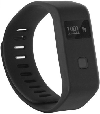 ZVR FLIPFIT Fitness Band bracelet BLUETOOTH CALL NOTIFICATION 3D Pedometer Temperature Calorie Monitor band tracker Smartwatch(Black Strap Regular) 1