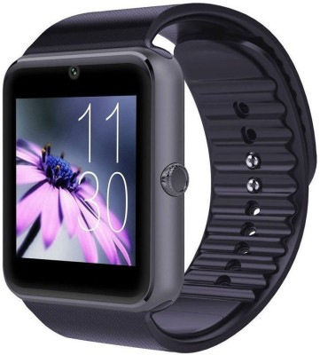 VibeX ™ GT-08 Bluetooth Black Smartwatch(Black Strap Regular) at flipkart