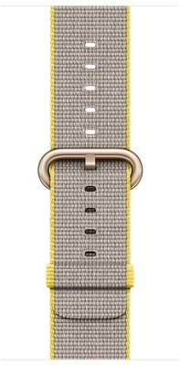 Apple Watch 2 - 38 mm Gold Aluminium Case with Yellow / Light Gray Woven Nylon Band Yellow / Gray Smar...