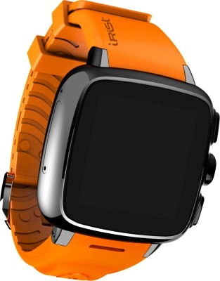 Intex iRist Black & Orange Smartwatch(Orange Strap Regular) at flipkart