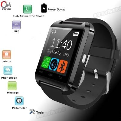 om enterprise U8 Smartwatch (Black Strap)
