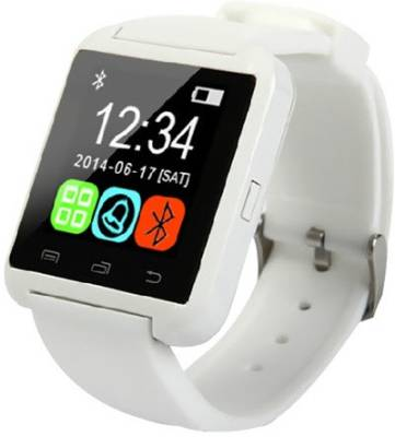 MDI Bluetooth Smart Watch for iPhone, All Android Smartwatch (White Strap)