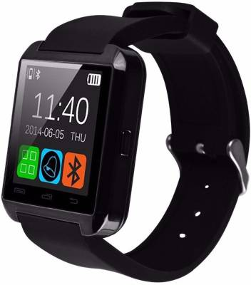Gazen Bluetooth smart watch Black Smartwatch (Black Strap Free Size)