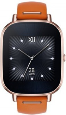Asus Zenwatch 2 Gold Case with Leather Strap Smartwatch(Orange Strap Regular) at flipkart