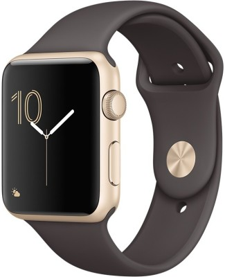 Apple Watch Series 1 - 42 mm Gold Aluminium Case with Cocoa Sport Band