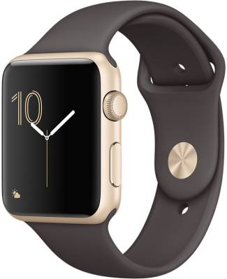 Apple Watch Gold Aluminium Case with Cocoa Sport Band 42mm Image