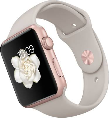 Apple Watch 42 mm Rose Gold Aluminum Case with Stone Sport Band Stone Smartwatch