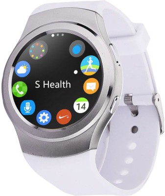 Speed G3 BT4.0, Heart Rate Monitor, Pedometer, Anti Lost, GSM SIM Slot, iOS + Android Smartwatch(White Strap Regular) 1
