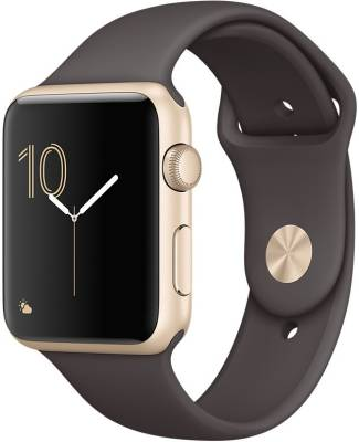Apple Watch Series 2 - 42 mm Gold Aluminium Case with Cocoa Sport Band Cocoa Smartwatch