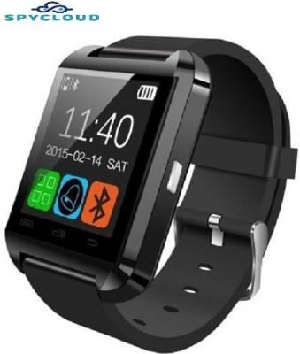 Spycloud SC-U8 Smartwatch (Black Strap)