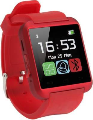 MDI U8 BLACK Smartwatch (Red Strap)