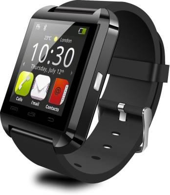 MDI u8 BLACK Smartwatch (Black Strap)