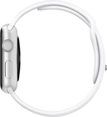 Apple Watch Sport 42 mm Silver Aluminium Case with Sport Band White Smartwatch (White Strap)