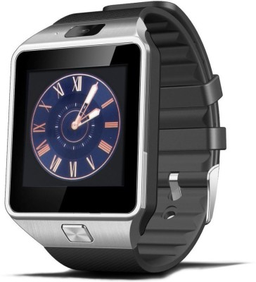 Crocon BLUETOOTH SMART WATCH WITH SIM FUNCTION SDCARD SUPPORT 2M CAMERA SILVER Smartwatch(Black Strap) at flipkart