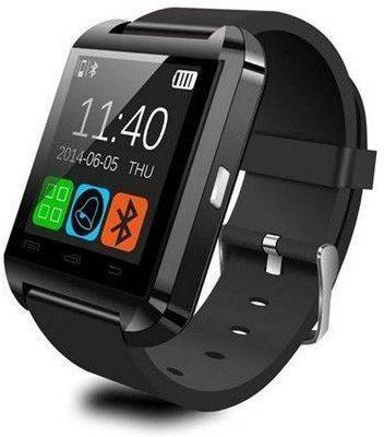 Salon Upgraded u8 smartwatch with two new features Smartwatch (Black, White, Red Strap)