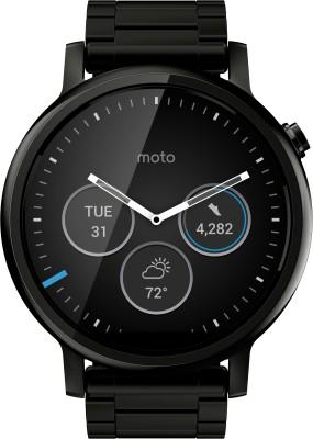 Motorola Moto 360 2nd Gen (46 mm) for Men Black Metal Smartwatch