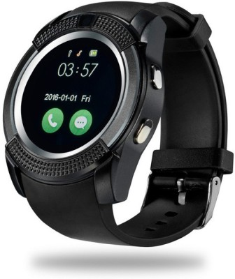 Life Like V8 BLUETOOTH WITH SIM & SD CARD SUPPORT BLACK Smartwatch(Black Strap Regular) at flipkart