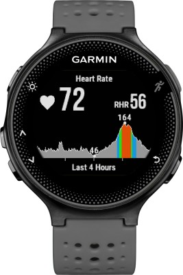 Garmin Forerunner 235 Grey Smartwatch(Grey Strap Regular) at flipkart