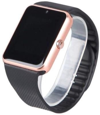 VibeX ™ Bluetooth GT08 GSM SIM Card Mobile Phone Black, Gold, Silver Smartwatch(Black Strap Regular) at flipkart