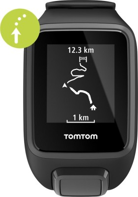 TomTom Spark 3 Cardio, GPS, Route Exploration with Music and Bluetooth Headphones Black Smartwatch(Black Strap Small) at flipkart