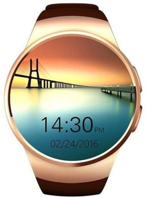 Technomart Super GSM Voice Call Touch Screen Fitness Tracking Smartwatch(Brown Strap Regular) 1