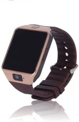 being trendy WS01 with SIM and 32 GB Memory Card Slot and Fitness Tracker Stainless Steel Smartwatch (Brown Strap)