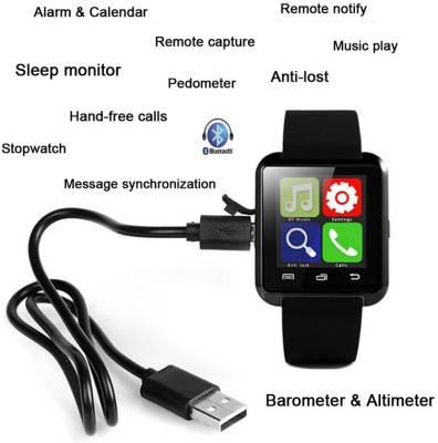 ZOON U8 balck Smartwatch (Black Strap)