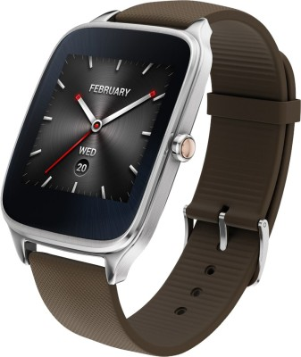 Asus ZenWatch 2 Silver Case with Rubber Strap Sliver/rubber taupe Smartwatch