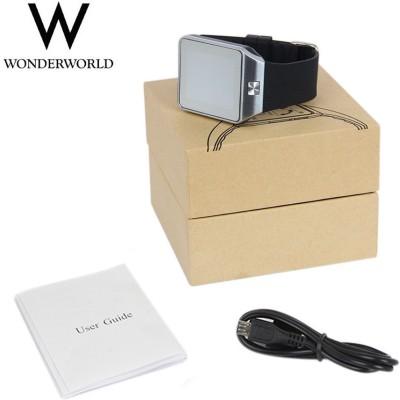 Wonder World DZ09-GSM phone Smartwatch(Black Strap Regular)