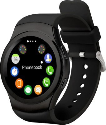 Speed G3 BT4.0, Heart Rate Monitor, Pedometer, Anti Lost, GSM SIM Slot, iOS + Android Smartwatch(Black Strap Regular)
