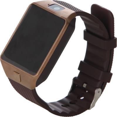 Maya DZ09 Smartwatch (Brown Strap)