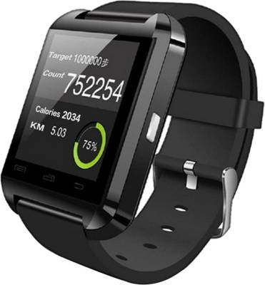 PremK New Black Smartwatch (Black Strap S)