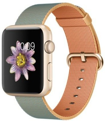 Apple Watch 42 mm Gold Aluminium Case with Gold / Royal Blue Woven Nylon