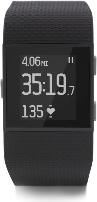 Fitbit Surge Black Smartwatch(Black Strap Small) at flipkart