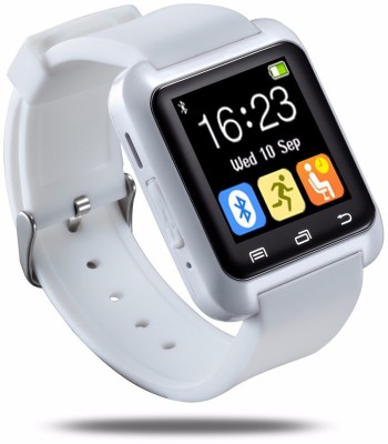 Bbroz U8 White Smartwatch(White Strap Regular)