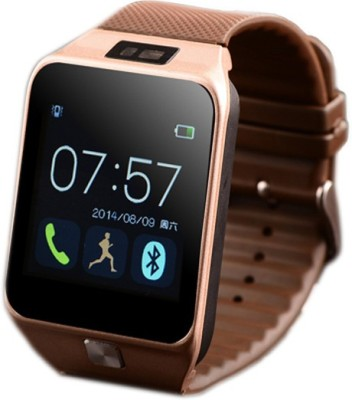 ELEGANZ EC11 with SIM and 32 GB Memory Card Slot and Fitness Tracker Smartwatch(Brown Strap Regular) at flipkart