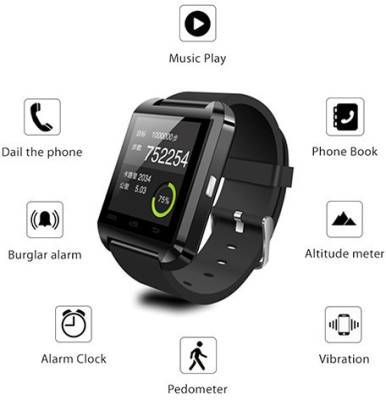 MOUSETRAP MTWSB Smartwatch (Black Strap)