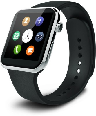 Crocon A9 Bluetooth Heart Rate Monitoring Android Phone Smartphone Watch silver Smartwatch(Silver Strap Regular) at flipkart