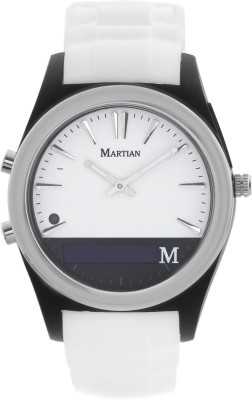 Martian Notifier Analog Watch Smartwatch(White Strap) at flipkart