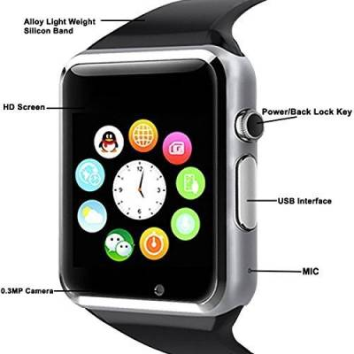 ShopAIS A1 Black Smartwatch